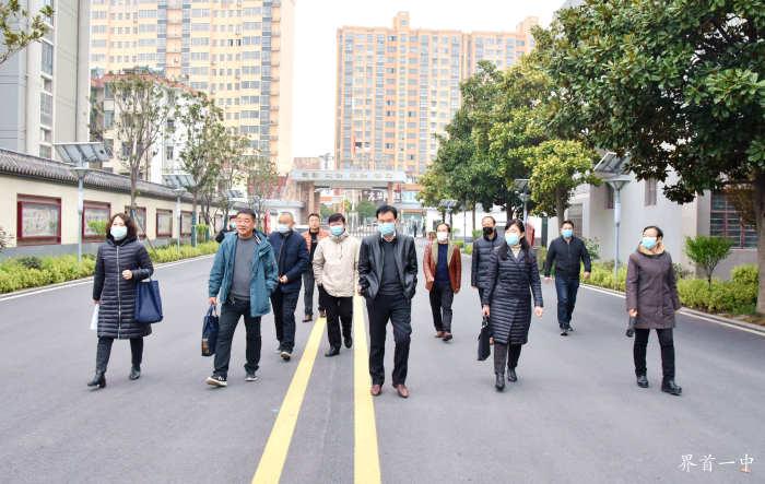 市联合检查组到界首一中检查指导防疫和开学准备工作